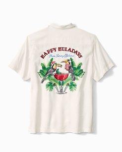 Big & Tall Happy Huladays Camp Shirt