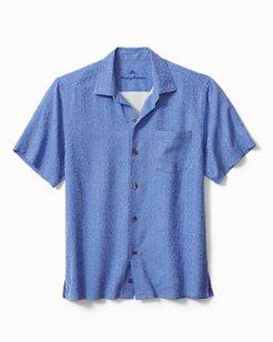 Big & Tall Santorini Tiles Camp Shirt