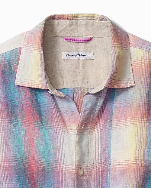 Big & Tall Sunray Ombré Linen Shirt