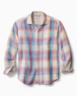 Big & Tall Sunray Ombré Linen Shirt