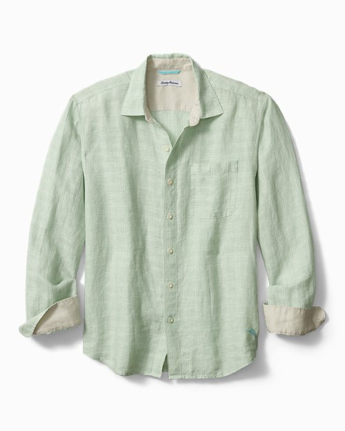 Big & Tall Ventana Plaid Linen Shirt