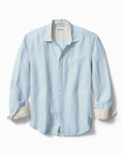 Big & Tall Ventana Plaid Linen Shirt
