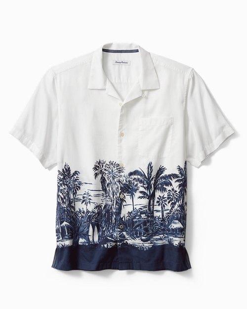 Big & Tall Bungalow Border Camp Shirt