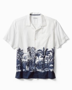 Big & Tall Bungalow Border Camp Shirt