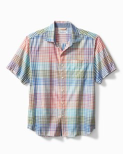 Big & Tall Grand View Gingham Camp Shirt