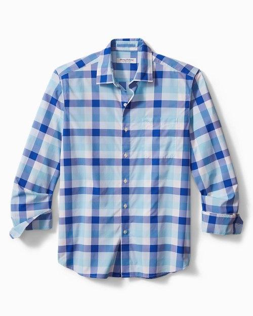 Big & Tall Siesta Key La Breva Plaid IslandZone® Shirt