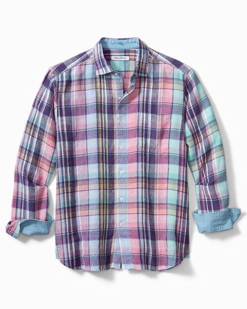 Big & Tall Cabrera Plaid Linen Shirt