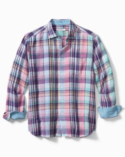 Big & Tall Cabrera Plaid Linen Shirt