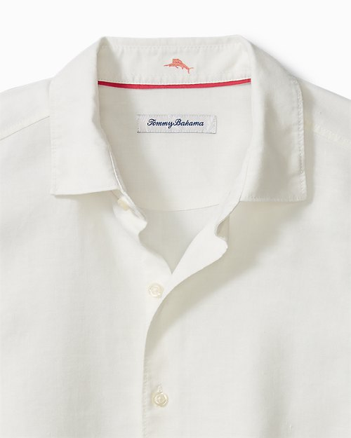 Big & Tall Koi Seas Stretch-Linen Shirt