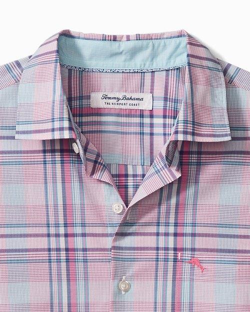 Big & Tall Newport Coast Kauai Plaid IslandZone® Shirt