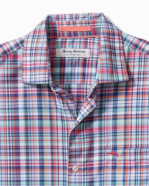 Big & Tall Siesta Key Kona Check IslandZone® Shirt
