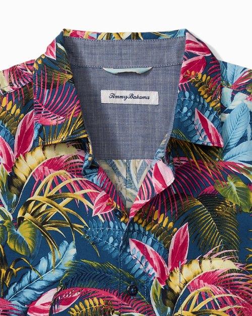 Big & Tall Fuego Palms Camp Shirt
