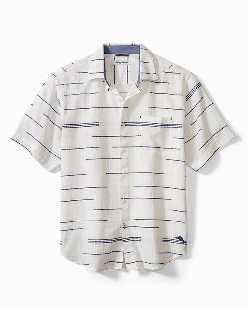 Big & Tall Calm Seas Stripe Camp Shirt