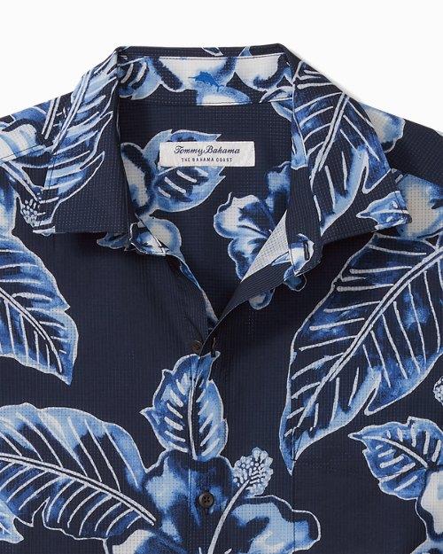 Big & Tall Bahama Coast Blooms IslandZone® Camp Shirt