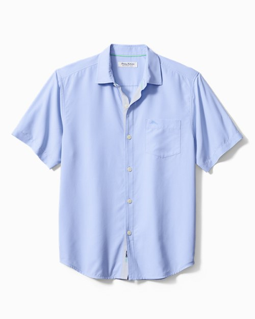 Big & Tall Coconut Point Micro Check IslandZone® Camp Shirt