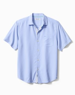 Big & Tall Coconut Point Micro Check IslandZone® Camp Shirt