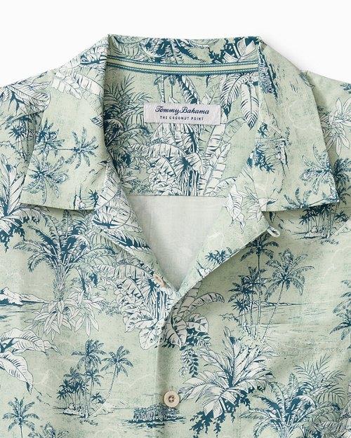Big & Tall Coconut Point Palm Outback Isla IslandZone® Camp Shirt