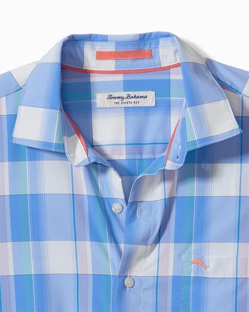 Big & Tall Siesta Key Brisbane Plaid IslandZone® Shirt