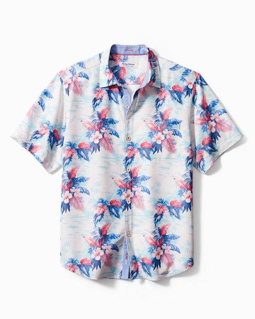 Big & Tall Coconut Point Tropical Print IslandZone® Camp Shirt