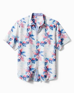Big & Tall Coconut Point Tropical Print IslandZone® Camp Shirt