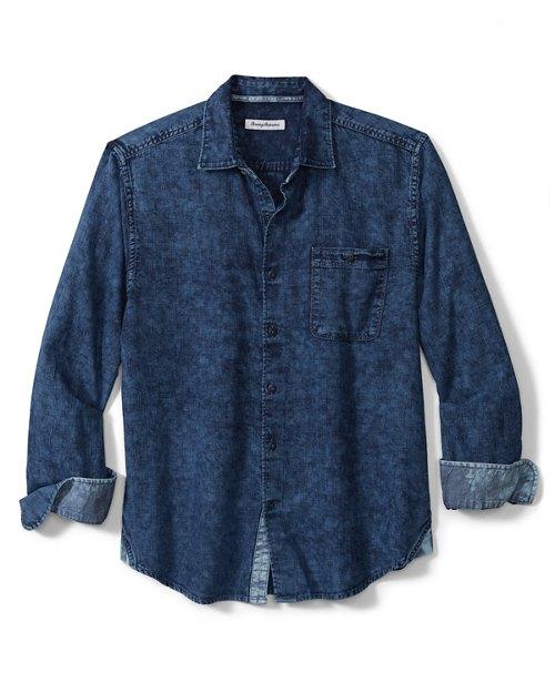 Big & Tall Indigo Beach Shirt