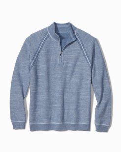 Big & Tall Sandy Bay Flip Reversible Half-Zip Sweater