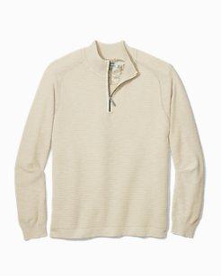 Big & Tall Island Tide Half-Zip Sweater
