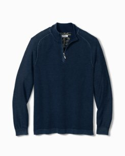 Big & Tall Island Tide Half-Zip Sweater
