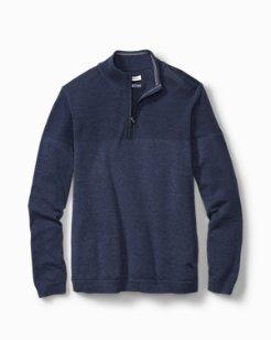 Big & Tall Island Fairway Half-Zip Sweater