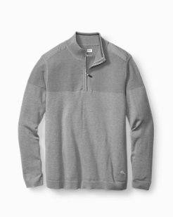 Big & Tall Island Fairway Half-Zip Sweater