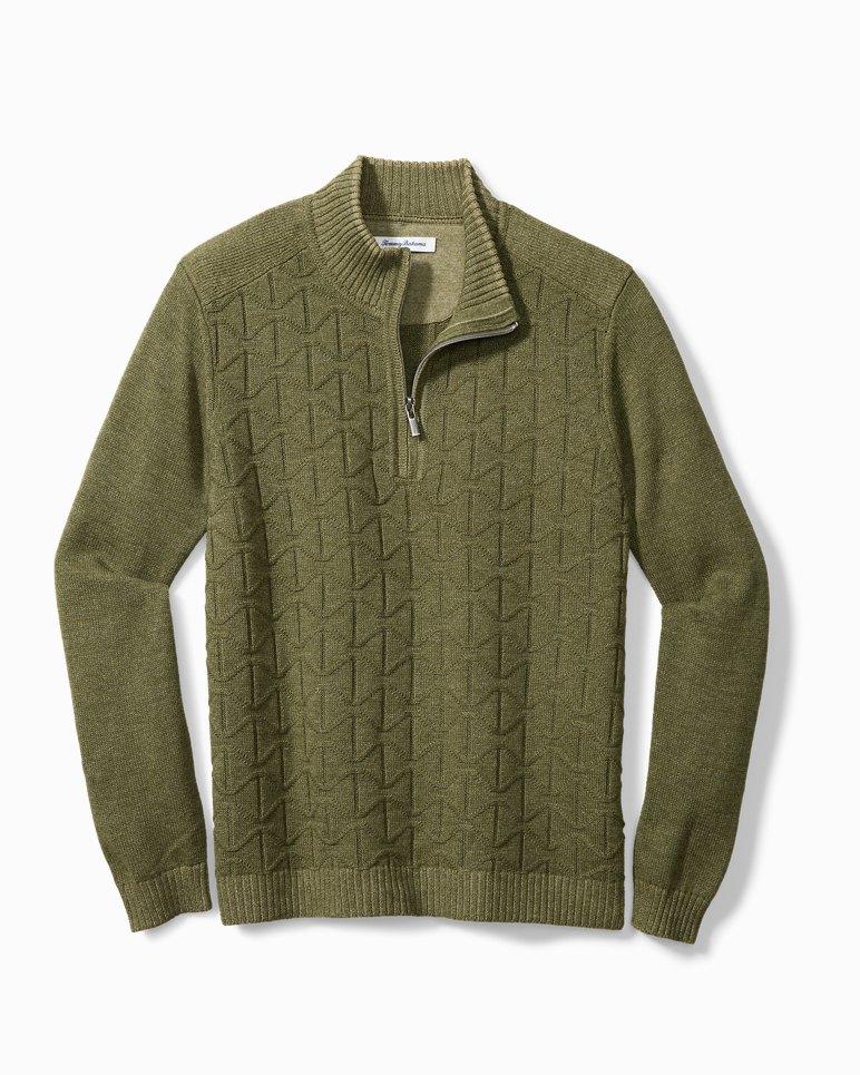Main Image for Big & Tall Palm Vista Half-Zip Sweater