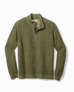 Big & Tall Palm Vista Half-Zip Sweater