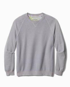 Big & Tall Sea Wave Crewneck Sweater