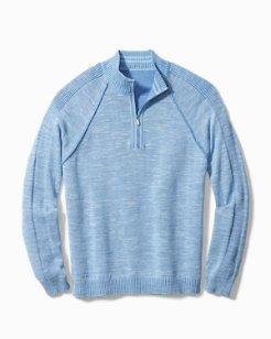 Big & Tall Di Sabbia Flip Half-Zip Sweater