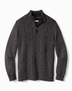 Big & Tall Deep Sea Half-Zip Sweater