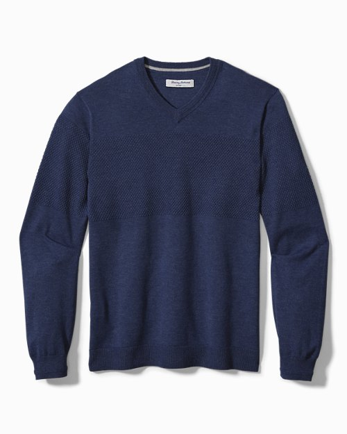 Big & Tall IslandZone® Coolside V-Neck Sweater