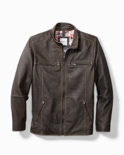 Big & Tall Rocker Highway Leather Jacket
