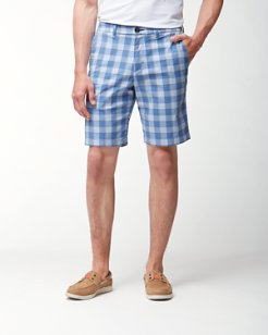 Big & Tall Check and Run Drop Shorts