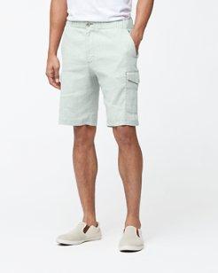 Big & Tall Beach Linen Cargo Shorts