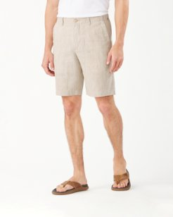 Big & Tall Harbor Herringbone Stretch-Linen Pull-On Shorts