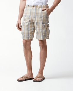Big & Tall Marina Bay Plaid Cargo Shorts