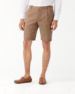 Big & Tall Havana Herringbone Pleated Shorts