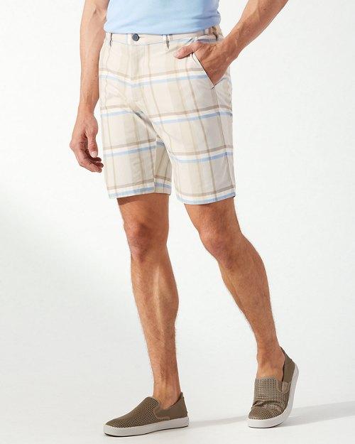 Big & Tall Harbor Point Plaid IslandZone® Shorts