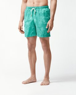 Big & Tall Naples Huli Pineapple Swim Trunks