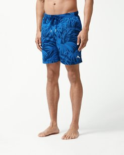 Big & Tall Naples Midnight Flora Swim Trunks