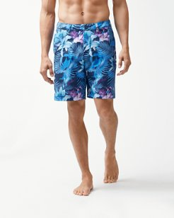 Big & Tall Cayman Laredo Blooms 9-Inch Hybrid Board Shorts