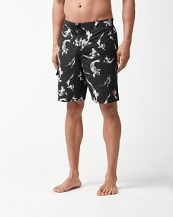 Big & Tall Baja Kois Are Back In Town Board Shorts