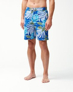 Big & Tall Baja Hibiscus Cove Board Shorts