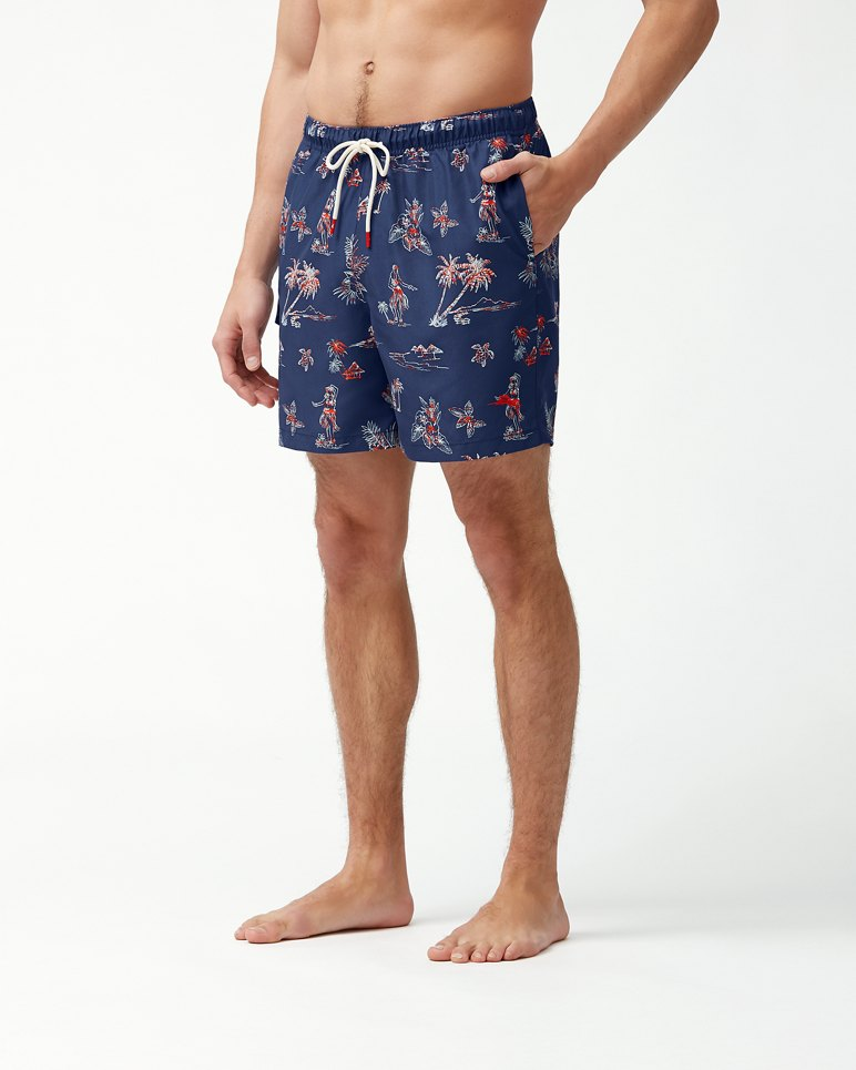 Main Image for Big & Tall Naples Hula Hut Swim Trunks