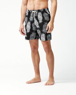 Big & Tall Naples Piña Piñata Swim Trunks